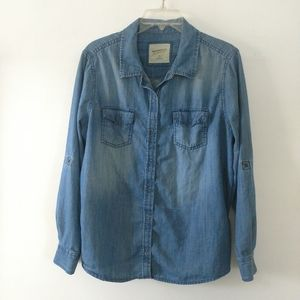 Arizona Jeans denim button down shirt sz XL